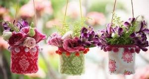 Vasos de flores de garrafa PET passo a passo