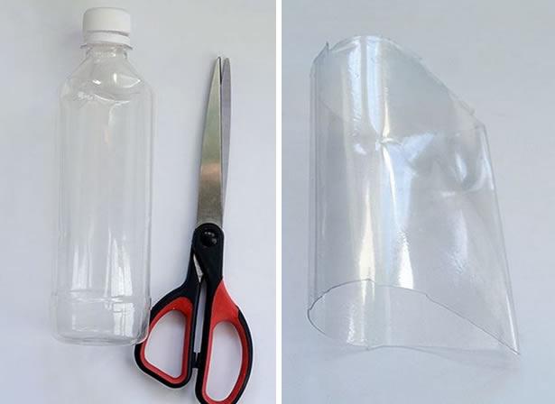 Caixa de garrafa PET passo a passo