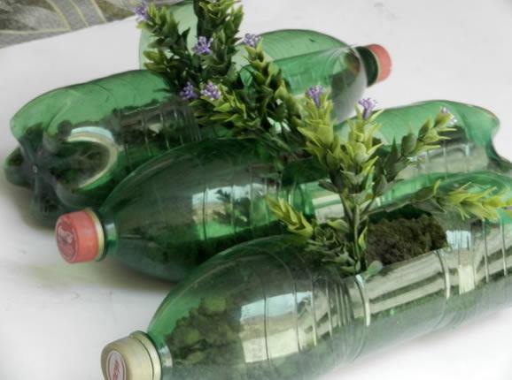 Como fazer vaso com garrafa PET