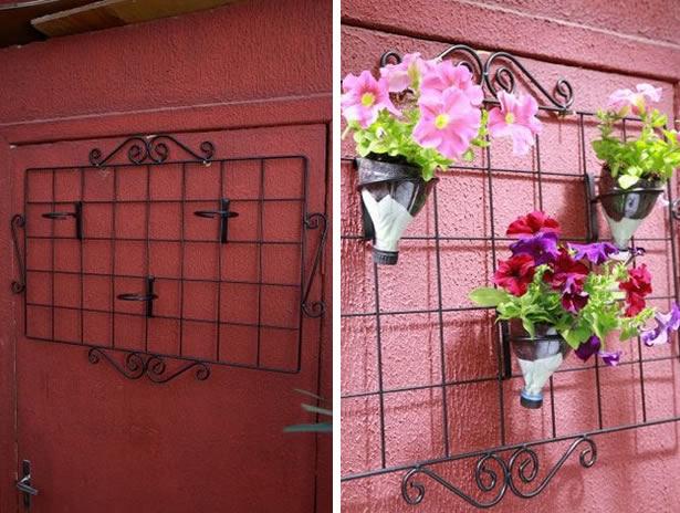 jardim vertical tecido:Jardim vertical com garrafa PET passo a passo