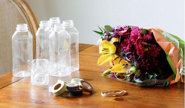 Vaso de garrafa PET para flores passo a passo