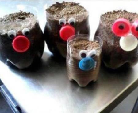 Artesanato com reciclagem de garrafa PET para o Dia das Crianças