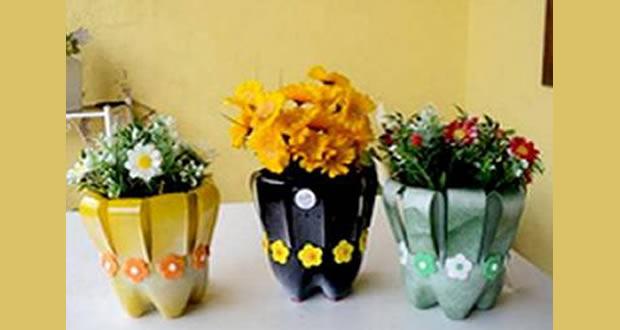 Famosos Como fazer vaso decorado com garrafa PET GN83