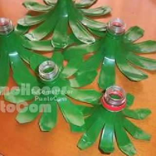 Artesanato com garrafa PET para o Natal