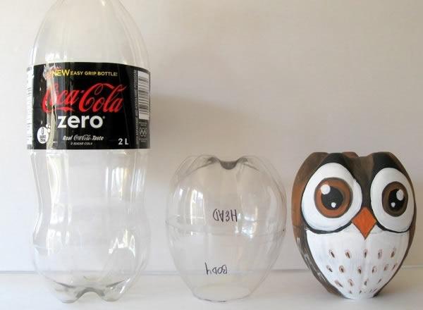 Como fazer coruja de garrafa PET