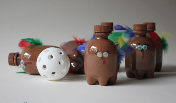 Ideia de brinquedo com garrafa PET
