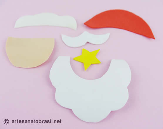 Papai Noel de Garrafa PET e EVA