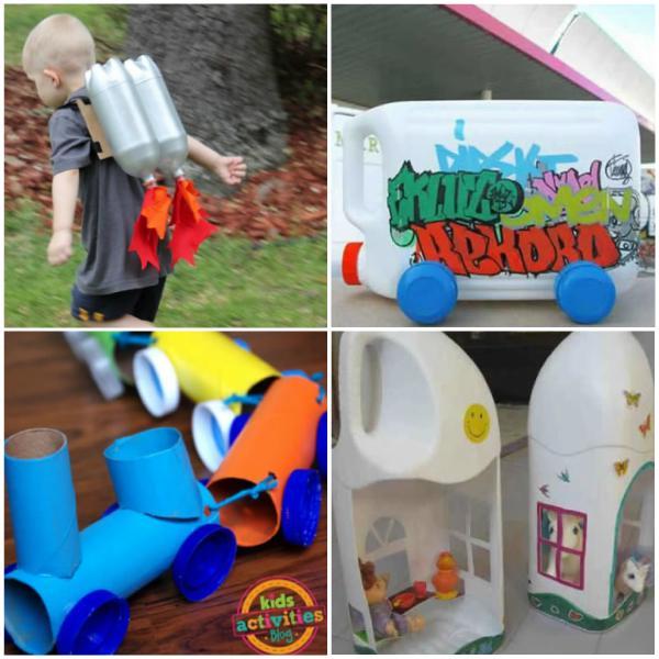 18 Brinquedos com Garrafa PET para Educaç u00e3o Infantil Artesanato com Garrafa PET