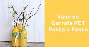Artesanato com Garrafa PET - Vaso de Flor Passo a Passo