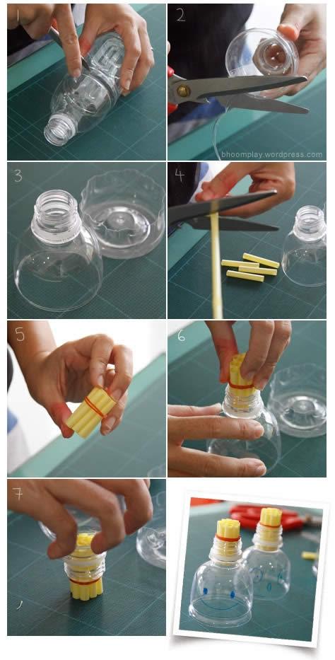 Brinquedo de soltar Bolhas de Sabão com Garrafa PET