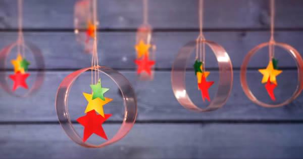 Enfeite com Garrafa PET para Árvore de Natal passo a passo