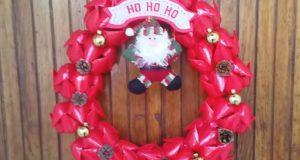 Guirlanda de Natal com Garrafa PET passo a passo