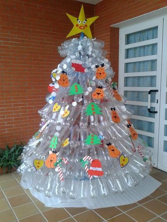 Árvores de Natal com Garrafas PET