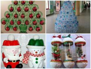 Decoração com Garrafas PET para Natal