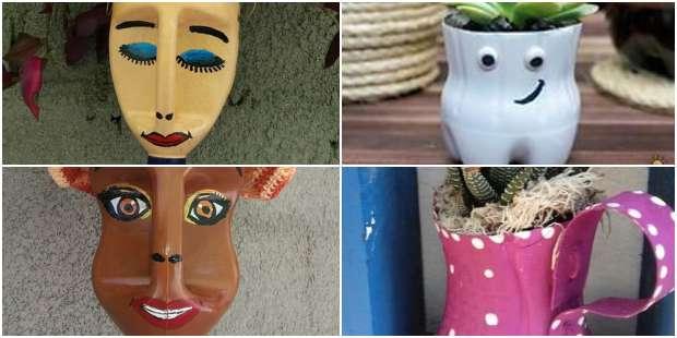Vasos Personalizados com Garrafas Plásticas