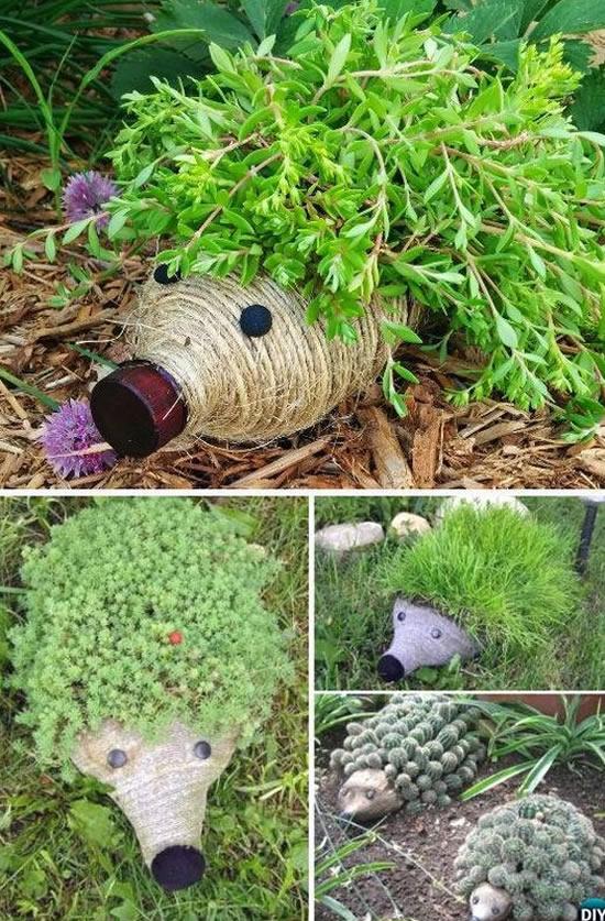 Artesanatos com Garrafa PET para o Jardim