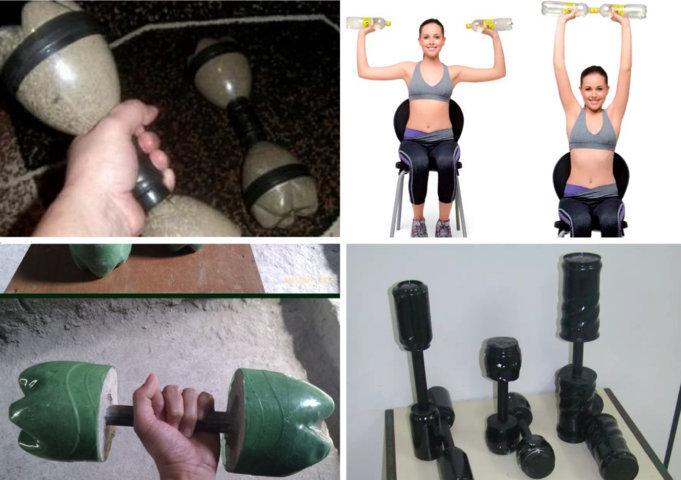 Como fazer peso de academia caseiro