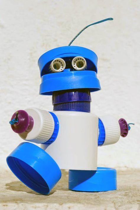 robô de tampinhas de pet