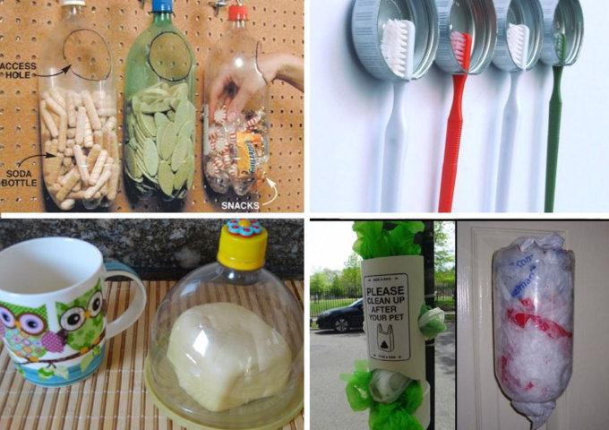 utilidades com garrafa pet