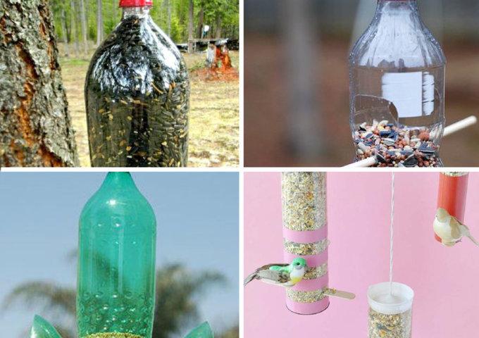 comedouros de garrafa pet