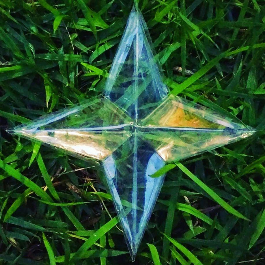 Estrela de natal de garrafa PET