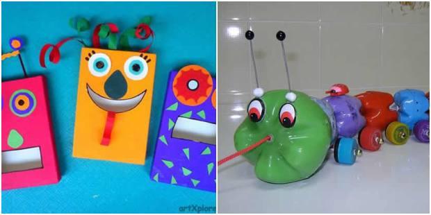 Brinquedos com reciclagem para fazer em casa